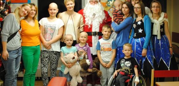 Świąteczna wizyta Mikołaja i Małgorzaty Kożuchowskiej