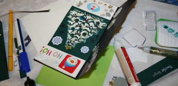 Warsztaty z tworzenia kartek świątecznych